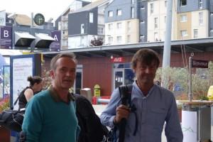 Yannick Gaucher à gauche a reçu le soutien de Nicolas Hulot pour l'action de la SNSM et de GHW