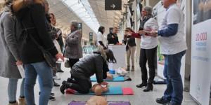 Les « gestes qui sauvent » débarquent en gare ! 1500 personnes sensibilisées
